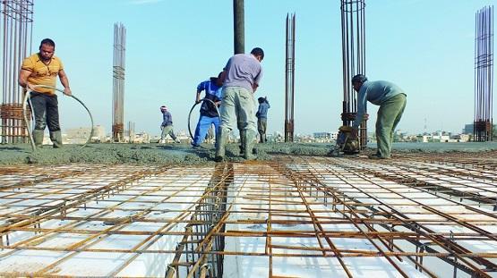 40 % نسبة التراجع في قطاع الانشاءات