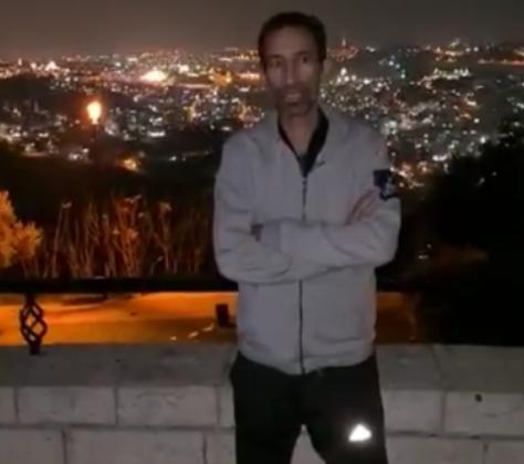بالفيديو  ..  راتب العوضات يوجه رسالة من القدس