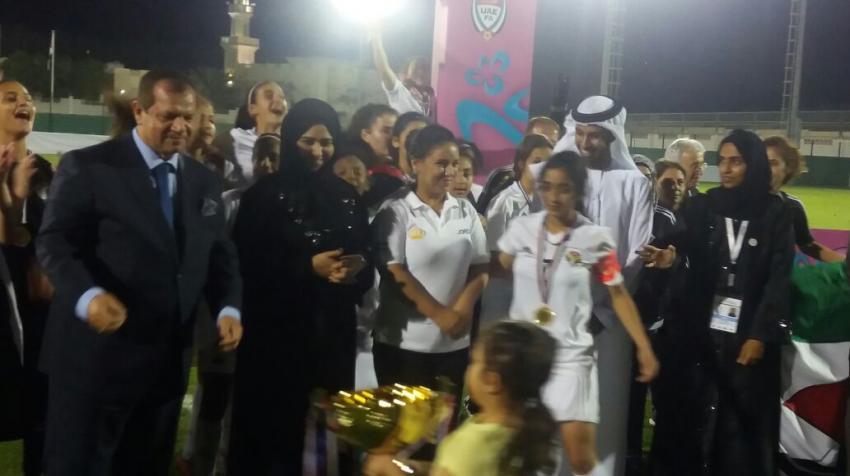 المنتخب الاردني للناشئات لكرة القدم  يحرز  لقب بطولة غرب اسيا لكرة القدم