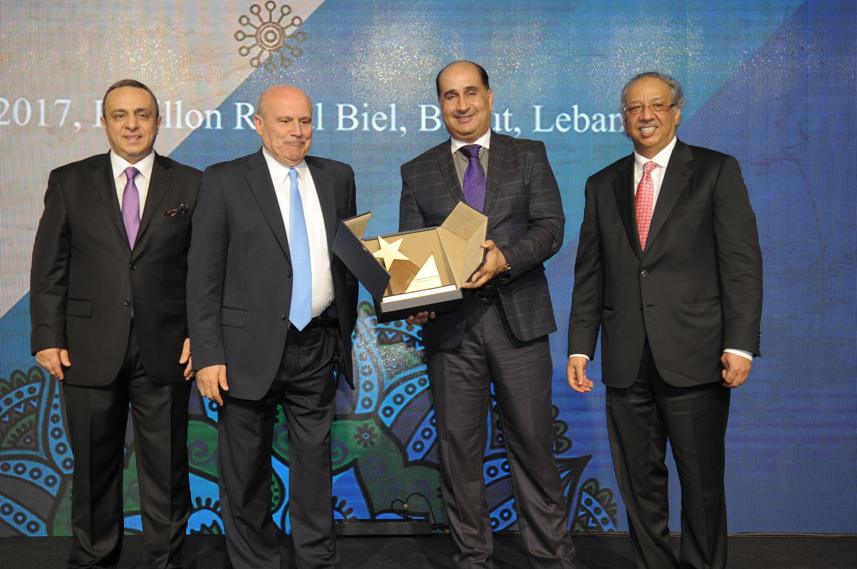 تكريم بنك الجزيرة السوداني الأردني بجائزة التميز في الاداء المصرفي