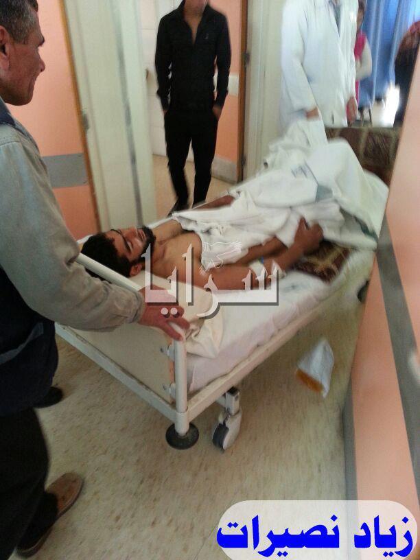 بالصور - نقل عشرات الجرحى السورين الي مستشفيات اربد