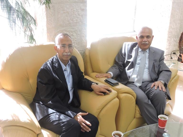 رئيس عمان الأهلية يلتقي وزير التعليم العالي اليمني