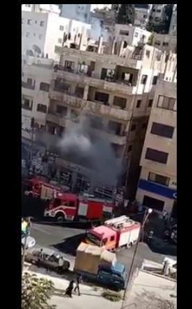 حريق مخبز في وادي صقرة  ..  فيديو