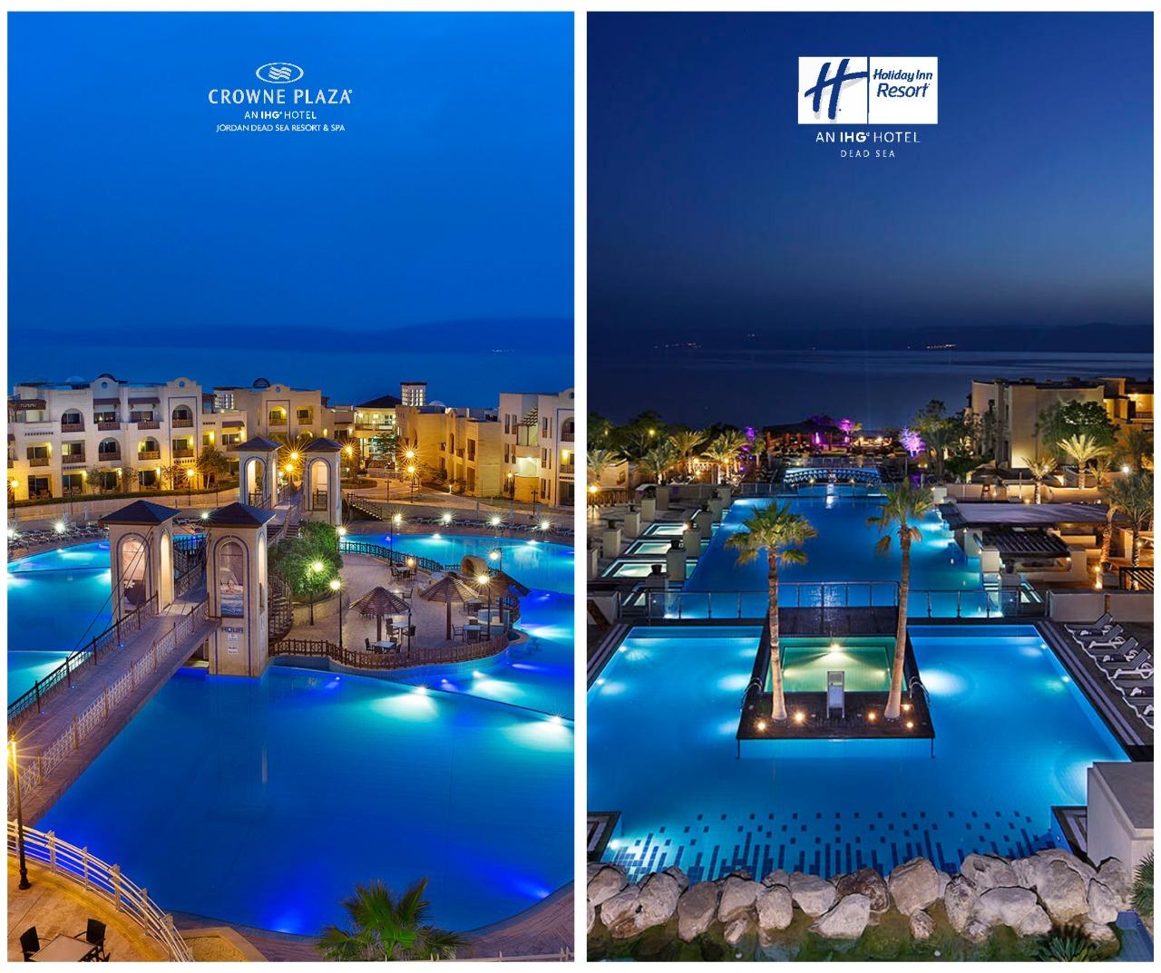 """فندقا """"كراون بلازا"""" و""""هوليداي إن"""" البحر الميت يطبقا واقعياً مفهوم الإقامة الطويلة بأسعار تفضيلية جداً"""