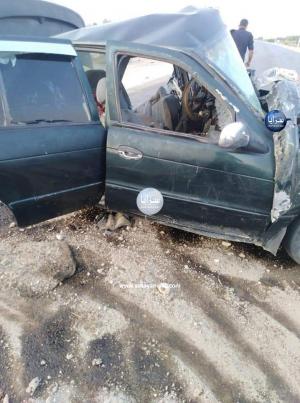 وفاة شخص واصابة (3) رجال أمن بحادث تصادم على طريق وادي عربة