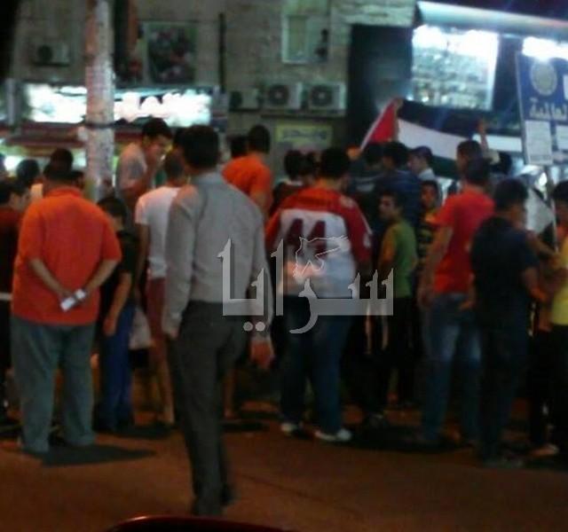 بالفيديو والصور : الأردنيون يحتفلون بإنتصار غزة