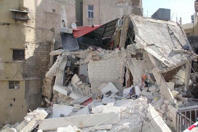 الزرقاء: إصابة بانهيار جزئي بعمارة سكنية