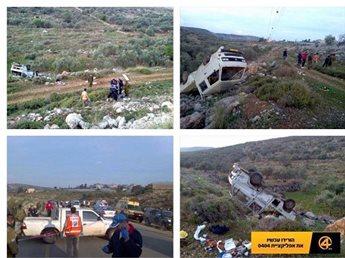صورة ..  شهيد وجريح خلال مطاردة اسرائيلية لسيارة فلسطينية