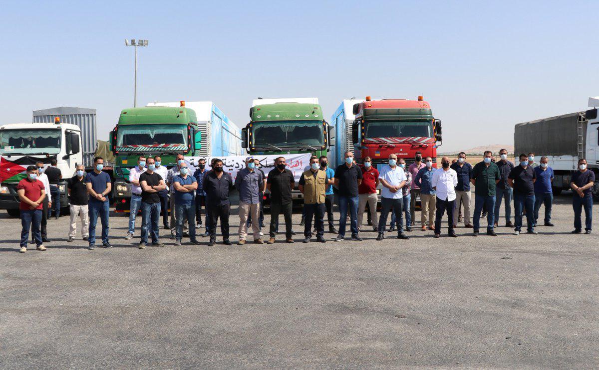 الملك يوجه بإرسال قافلة تعزيز إلى المستشفى الميداني الأردني في غـ زة