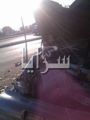 تدهور مركبة واصابة شاب بجروح  خطيرة بمنطقة المشارع في الاغوار الشماليه .. صور