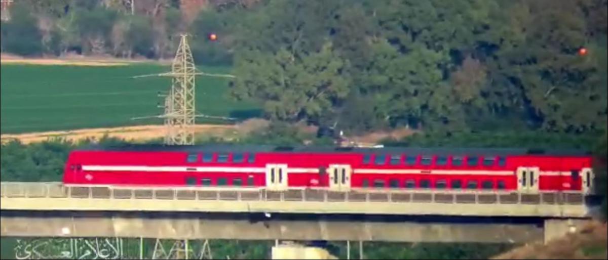 إيقاف حركة القطار السريع في غلاف غزة