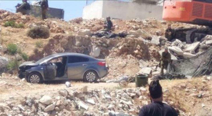 بالفيديو ..  الاحتلال يطلق النار على سيدة فلسطينية في القدس