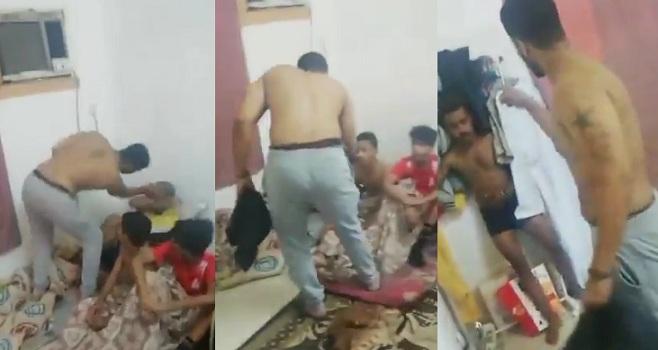 شرطة عَمان تلقي القبض على شخص اعتدى بالضرب على مواطنين  .. فيديو