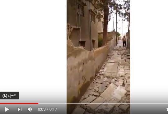 بالفيديو  .. شجرة آيلة للسقوط تشكل خطراً على سلامة الاهالي في منطقة ماركا