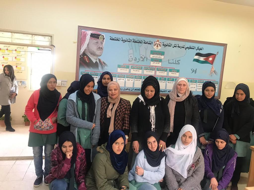 الزيتونة الأردنية تنظم محاضرة توعوية عن اللغة العربية في مدرسة نتل الثانوية المختلطة