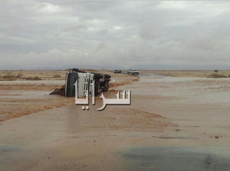 فيديو و صور ..  وفيات و انهيار أبنية و تعليق للدراسة بسبب السيول والفيضانات في السعودية
