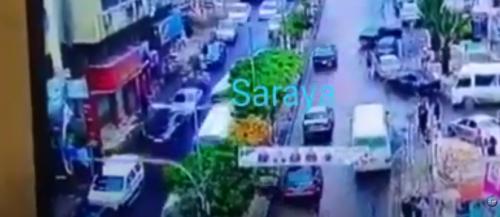 بالفيديو  ..  سائق تكسي يفقد السيطرة على مركبته ويصطدم بمركبة اخرى بعجلون