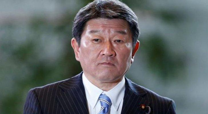 """وزير خارجية اليابان يؤكد أهمية الوصاية الهاشمية ويثمن جهود الأردن بـ""""وقف النار"""""""