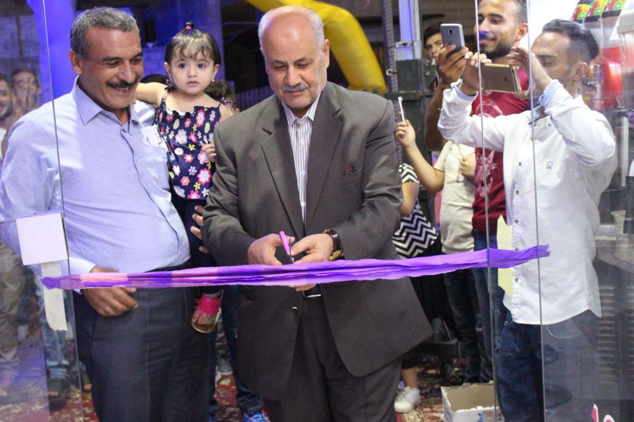 بالصور  ..   افتتاح سلاش ووافلز عصائر وايس كريم وكوكتيل