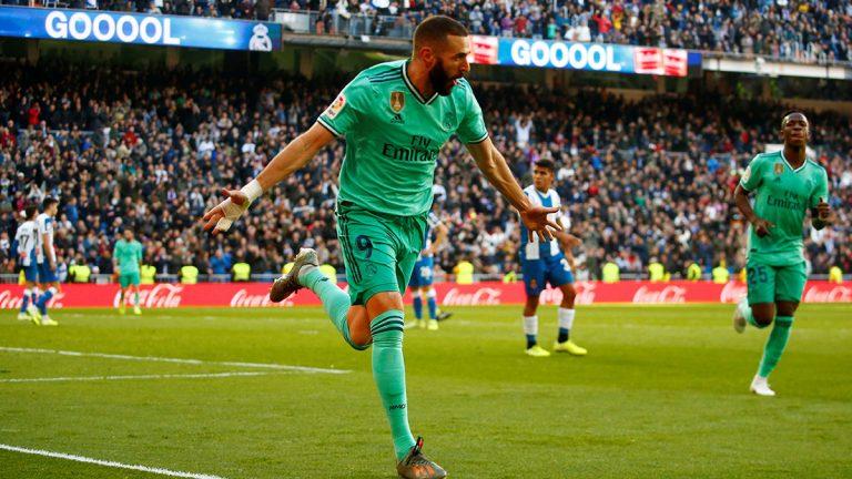 """ريال مدريد يتصدر جدول ترتيب الدوري الإسباني """"مؤقتًا"""" بإسقاط إسبانيول (فيديو)"""
