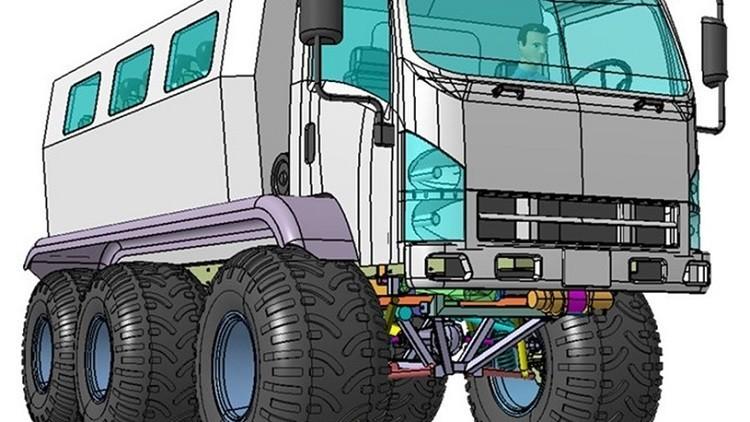 شركة روسية تبني عربة خاصة لقهر طرق القطب الشمالي الوعرة