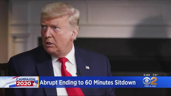 ترامب ينفّذ تهديده وينشر فيديو انسحابه من مقابلة تليفزيونية