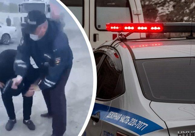 فيديو صادم  ..  شرطي مرور روسي يطلق النار على رأس شاب أثناء القبض عليه