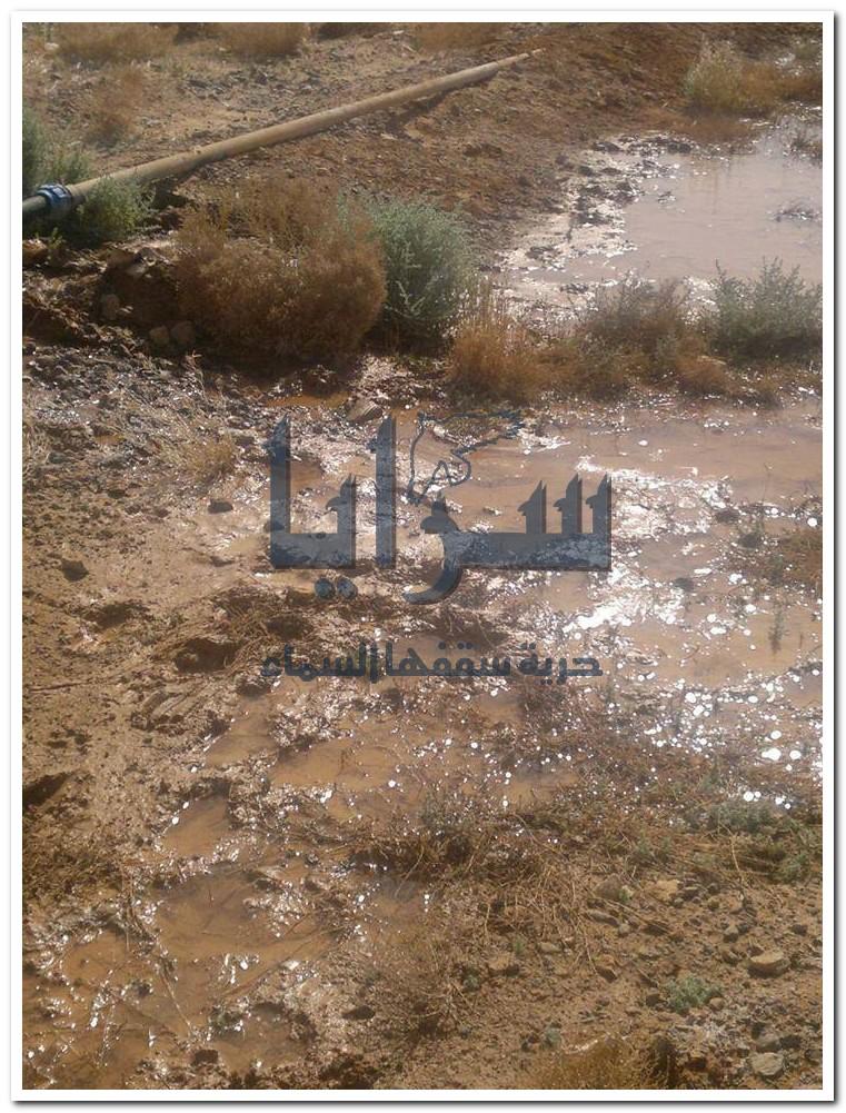 انقطاع المياه في منطقة سطح معان  ..  صور
