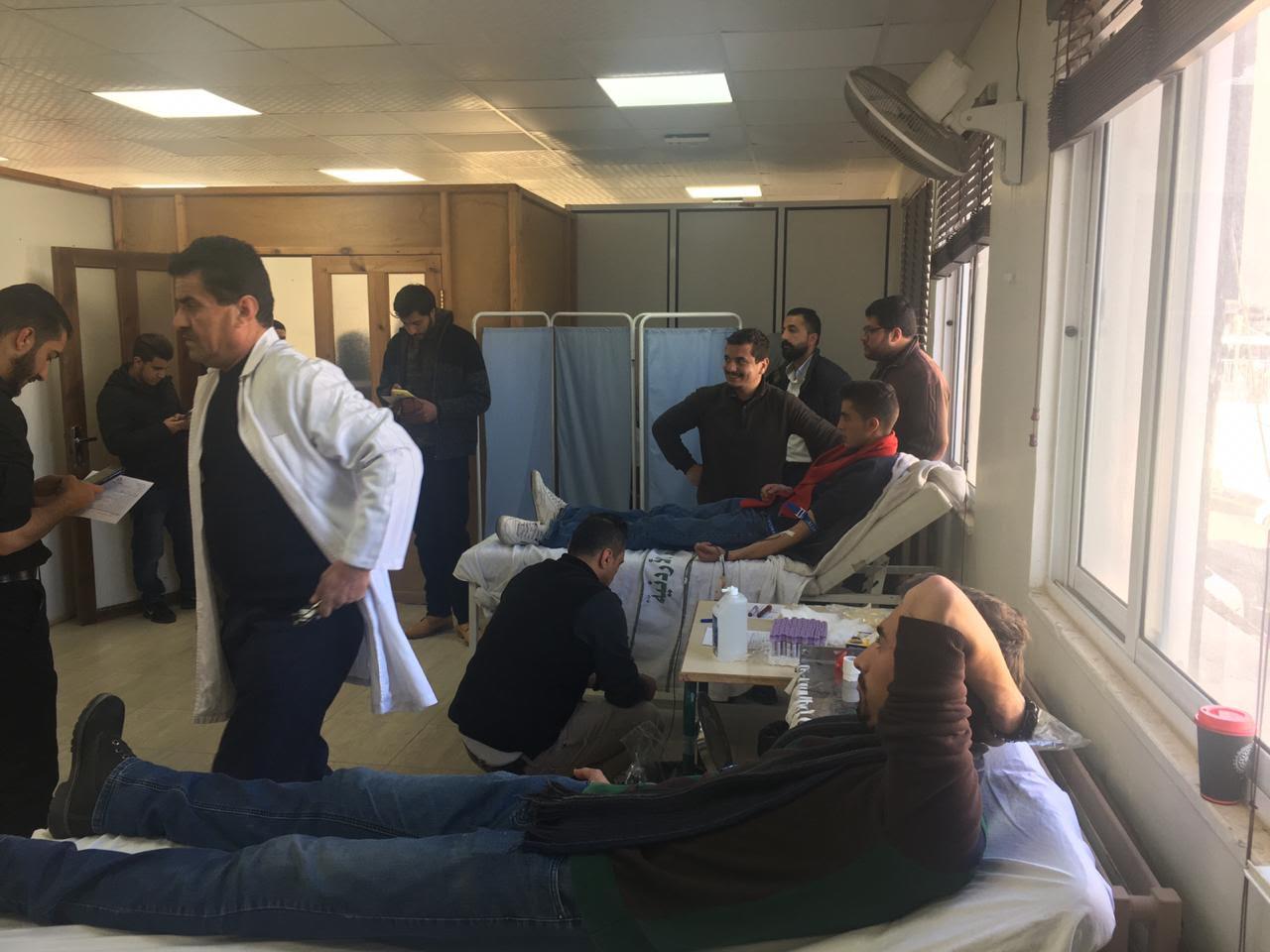 """جامعة عمان الأهلية تنظم حملة تبرع بالدم لصالح مستشفى """"الحسين"""" السلط الحكومي"""