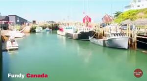شاهد المد والجزر في خليج فندى، كندا