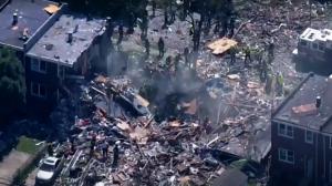 انفجار في بالتيمور الأمريكية يسوي المنازل أرضا