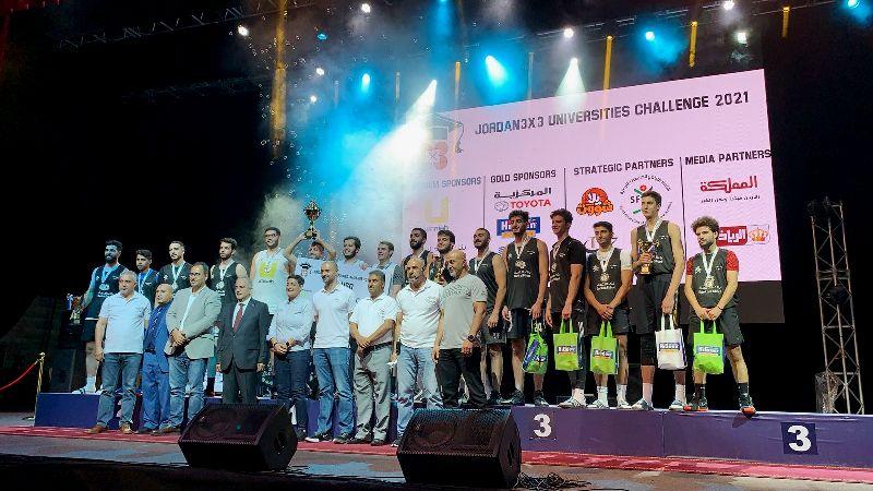 رئيس جامعة عمان الأهلية يتوج الفائزين ببطولة الجامعات الأردنية لكرة السلة 3×3 للطلاب والطالبات