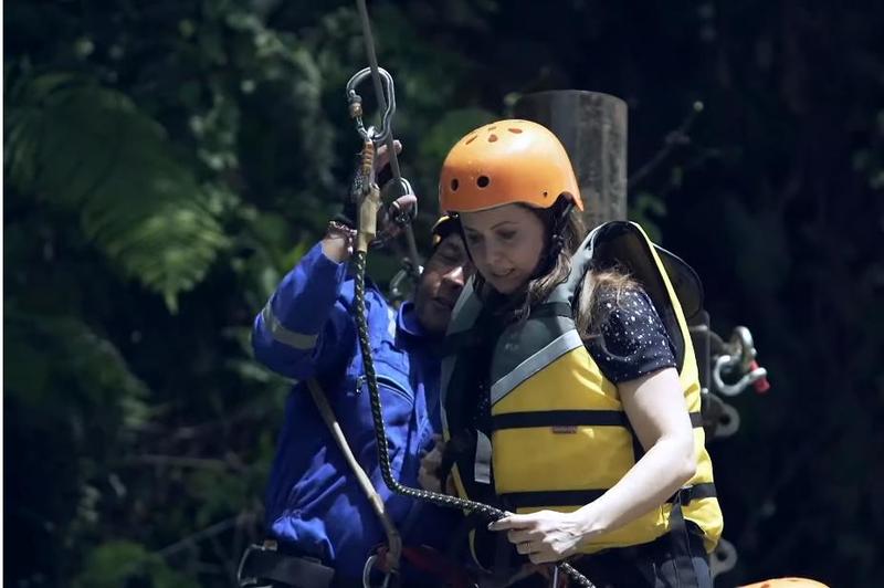 """بالفيديو ..  ريّا أبي راشد في """"رامز في الشلال"""": ما حصل غير متوقع"""