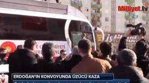 بالفيديو.. حافلة أردوغان تدهس حارسه الشخصي!