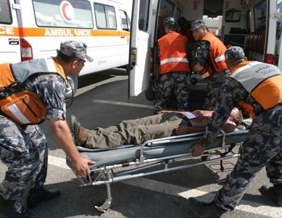 المفرق :اصابه خمس اشخاص اثر حادث سير