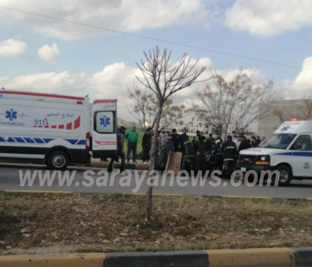 """وفاة شخص دهساً بالقرب من """"مجمع عمان"""" في إربد"""