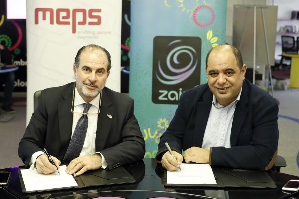شراكة استراتيجية بين زين كاش والشرق الأوسط لخدمات الدفع MEPS