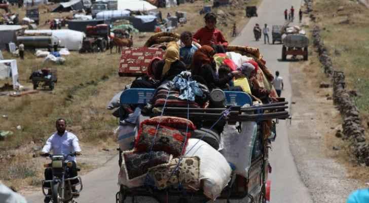 ارتفاع عدد النازحين في جنوب غرب سوريا إلى  اكثر من ربع مليون نازح