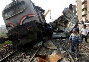 حبس سائقي القطارين المتصادمين شمالي مصر