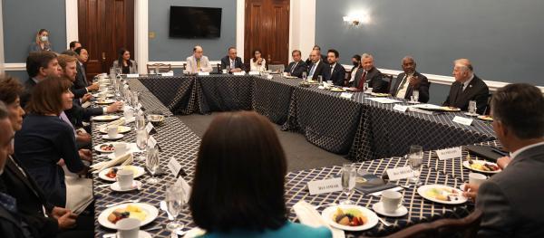 الملك يلتقي لجنة الشؤون الخارجية في النواب الأمريكي