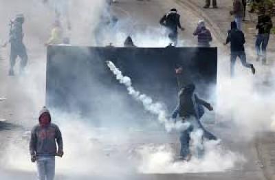جنين: اصابة مواطنين بحالات اختناق بمواجهة مع الاحتلال