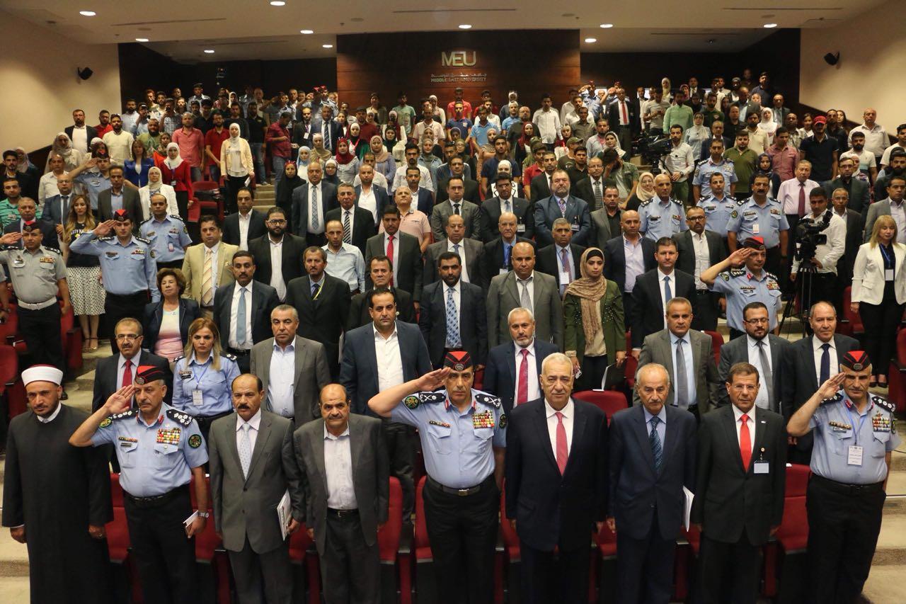 انطلاق اعمال مؤتمر الأمن المجتمعي في جامعة الشرق الأوسط