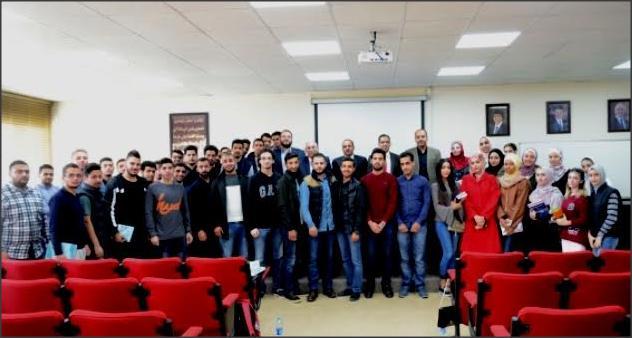 عميد كلية الحقوق في جامعة عمان الأهلية يلتقي بطلبتها المستجدين للعام الجامعي 2017-2018