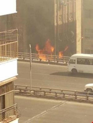 التلفزيون السوري: تفجير انتحاري وهجوم على قسم للشرطة في الميدان بدمشق
