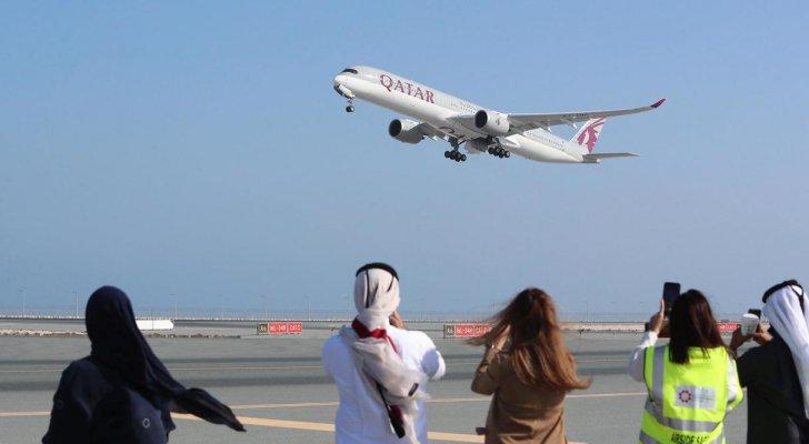 أول رحلة جوية بين قطر والسعودية بعد استئناف العلاقات