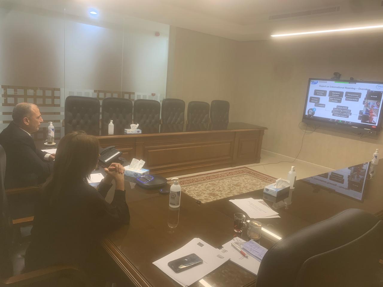 """هيئة الاتصالات تُشارك في الاجتماع العام لأعضاء المجموعة الأرومتوسطية لمنظمي الاتصالات """"عن بُعد"""""""