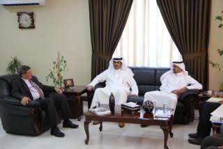 """الدكتور محمد المجالي يستقبل الملحق الثقافي الكويتي في """"الزيتونة"""" ..  صورة"""