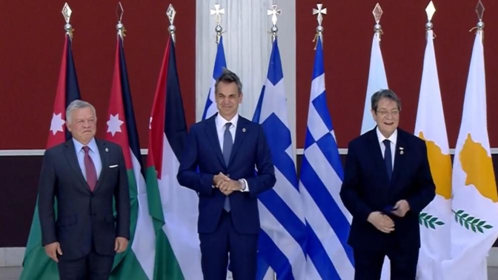 الملك يصل أثينا للمشاركة بقمة ثلاثية مع الرئيس القبرصي و رئيس الوزراء اليوناني