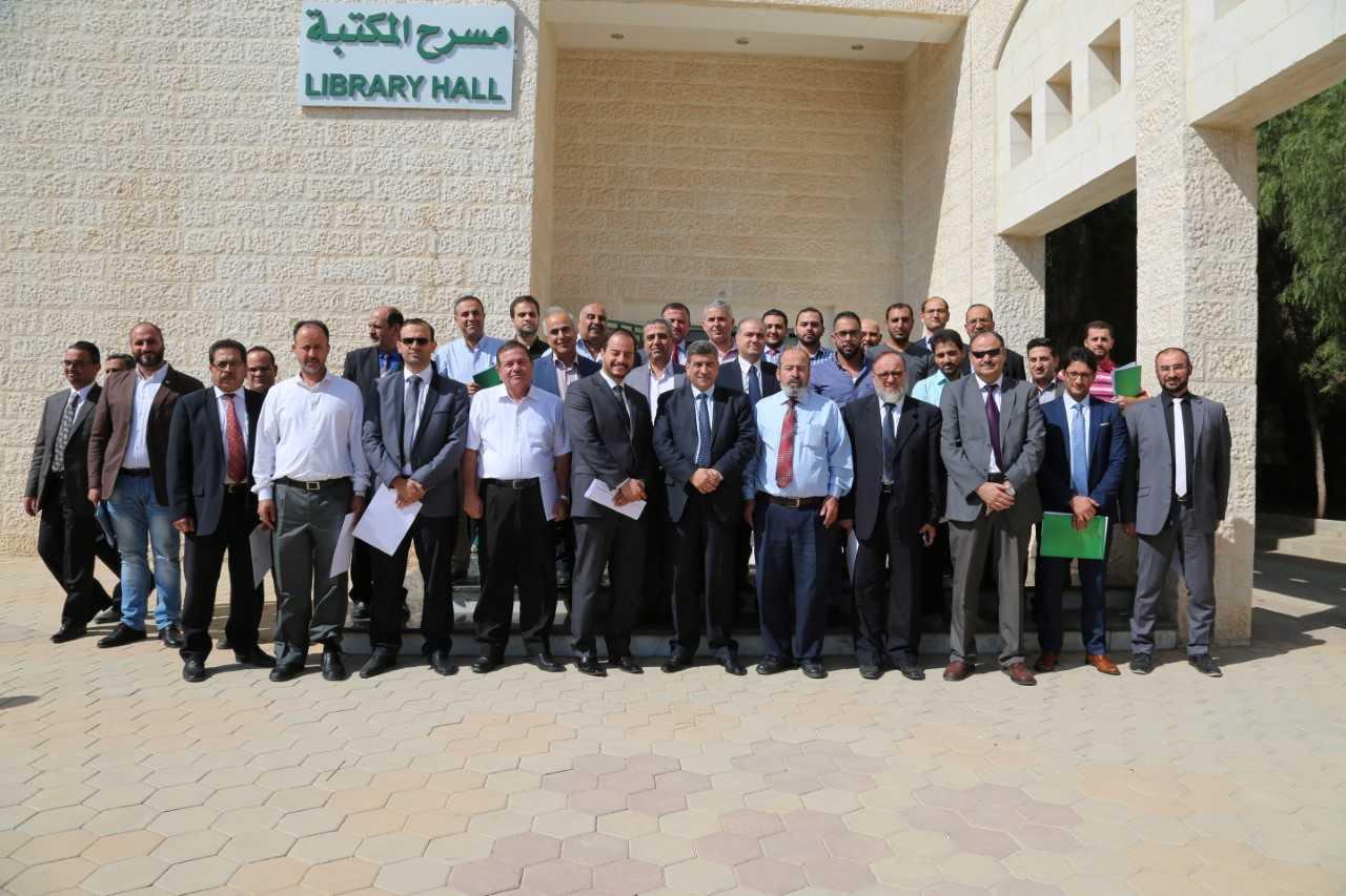 تخريج الدورات التدريبية لأعضاء الهيئة التدريسية في جامعة الزيتونة الأردنية