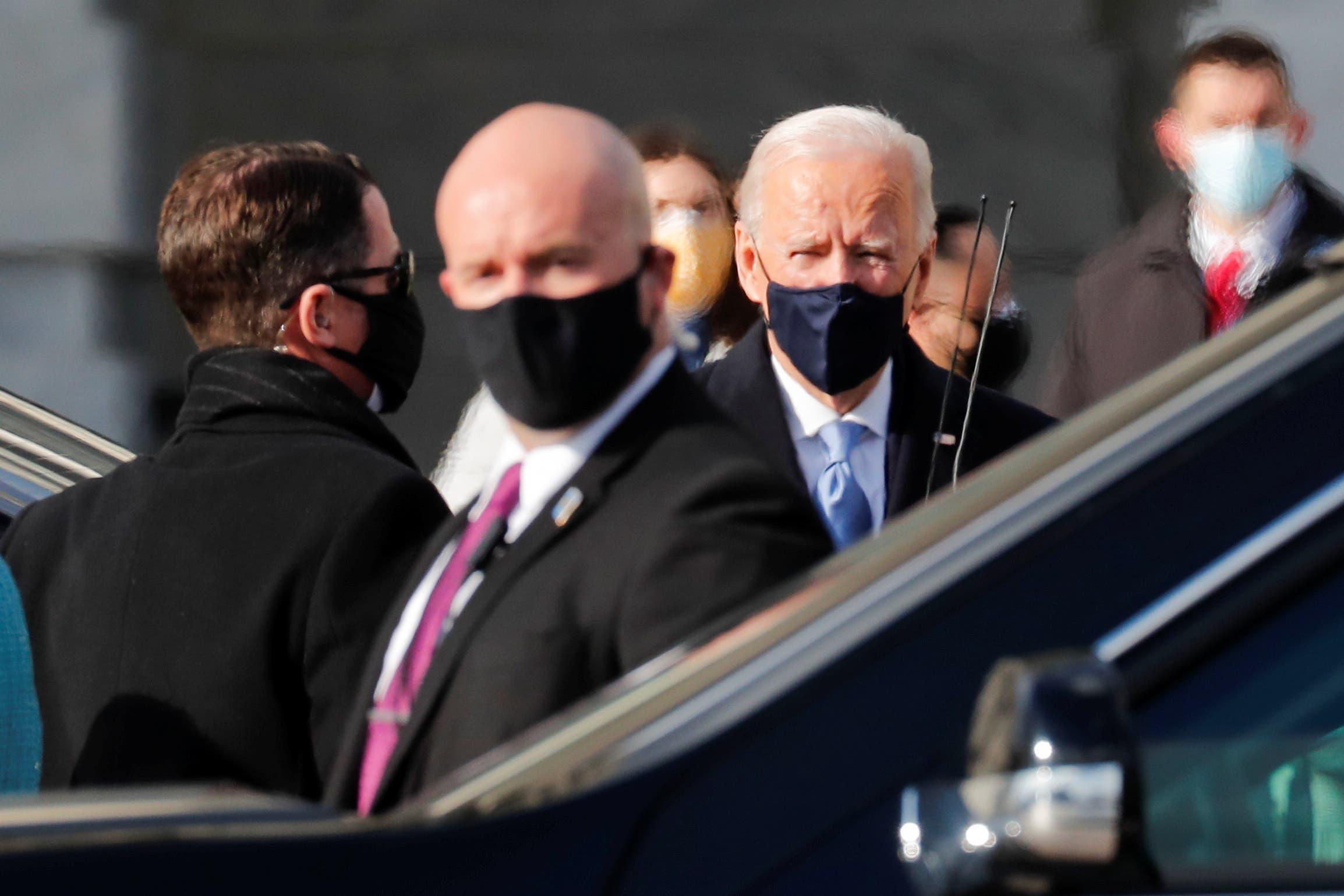 بايدن وهاريس يصلان مبنى الكابيتول ومراسم التنصيب تبدأ بعد قليل وتأهب أمني غير مسبوق في واشنطن
